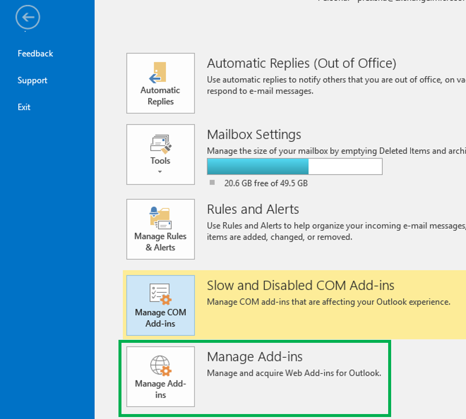 Check Outlook 2013 Add-in Support